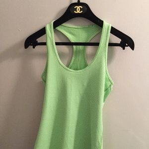 Lululemon Green Gingham Cool Racerback Tank Top
